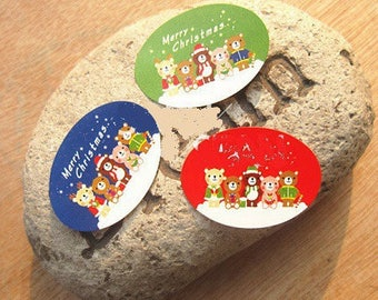 20 stickers, stickers, 23 * 32 mm Christmas decor