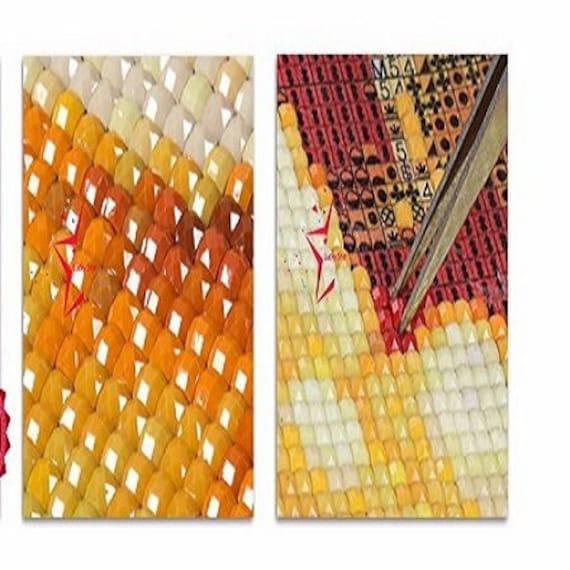Nouveau Superbe Kit Tableau Pixel Art Modèle Cheval Effet Peinture Strass Acrylique à Coller