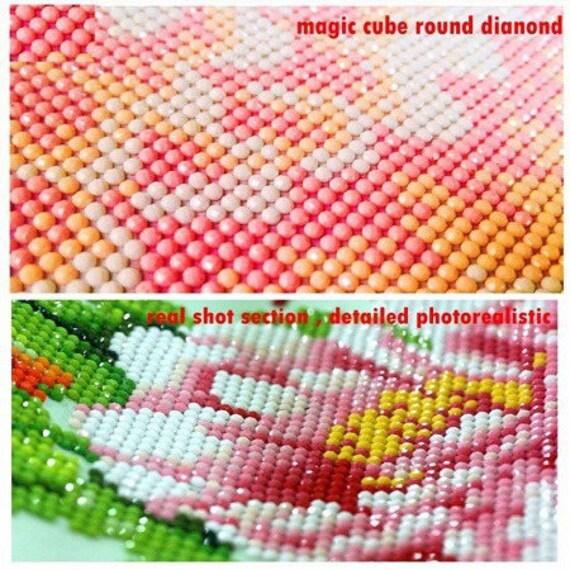Nouveau Superbe Kit Tableau Pixel Art Modèle Chaton Strass Acrylique à Coller