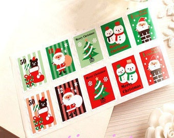 20 stickers, stickers, stamps, 30 * 35mm Christmas decor