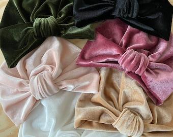 Turban, cap, velvet, from birth to adult.