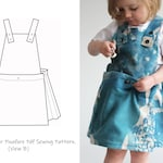 Girls Treasure Hunter Pinafore Dress Pattern / Dress with Pockets PDF Sewing Pattern / Dress Pattern / Dungaree Dress Pattern/ Apron Dress