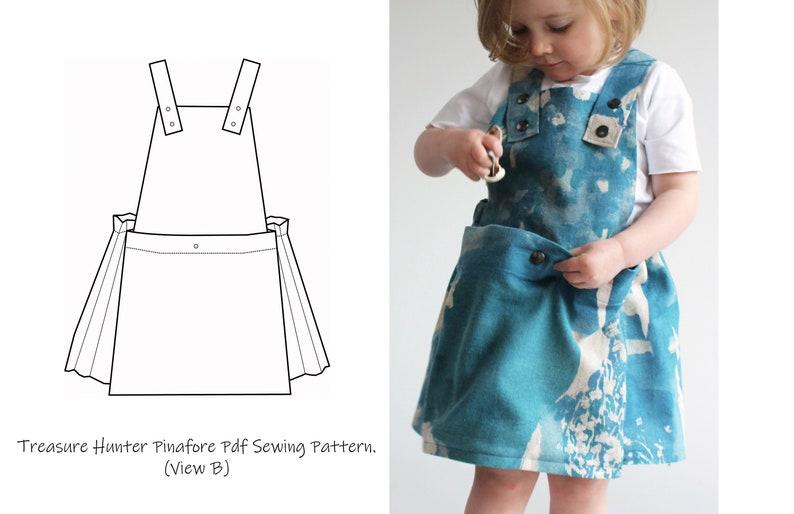 Girls Treasure Hunter Pinafore Dress Pattern / Dress with image 0