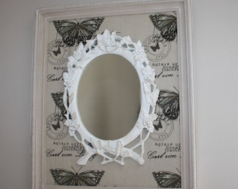 Charm in antique frame mirror