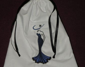 Slippers woman silhouette machine embroidery bag/pouch/bag