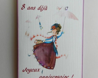 Greeting card. Nice and original birthday girl card. HAND MADE