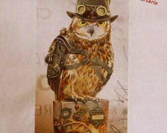 transfer 140.   textile transfer: original AVIATOR OWL