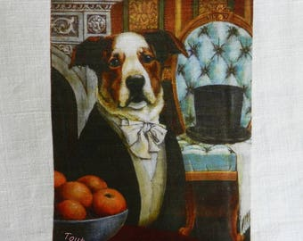 transfer 149.   textile transfer: ORIGINAL dog fancy for your creations