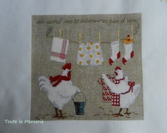 Transfer. Original transfer: tites hens that extend linen