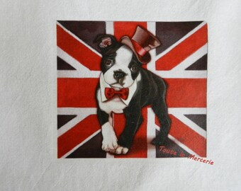 transfer 139.   textile transfer: ORIGINAL BOULEDOG BRITISH