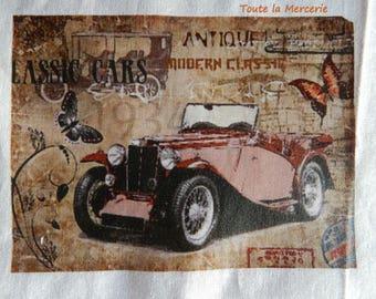 Transfer. Original transfer. vintage car 02