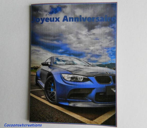 Voeux05 Card Birthday Card Bmw Lover Handmade Handcrafted Etsy