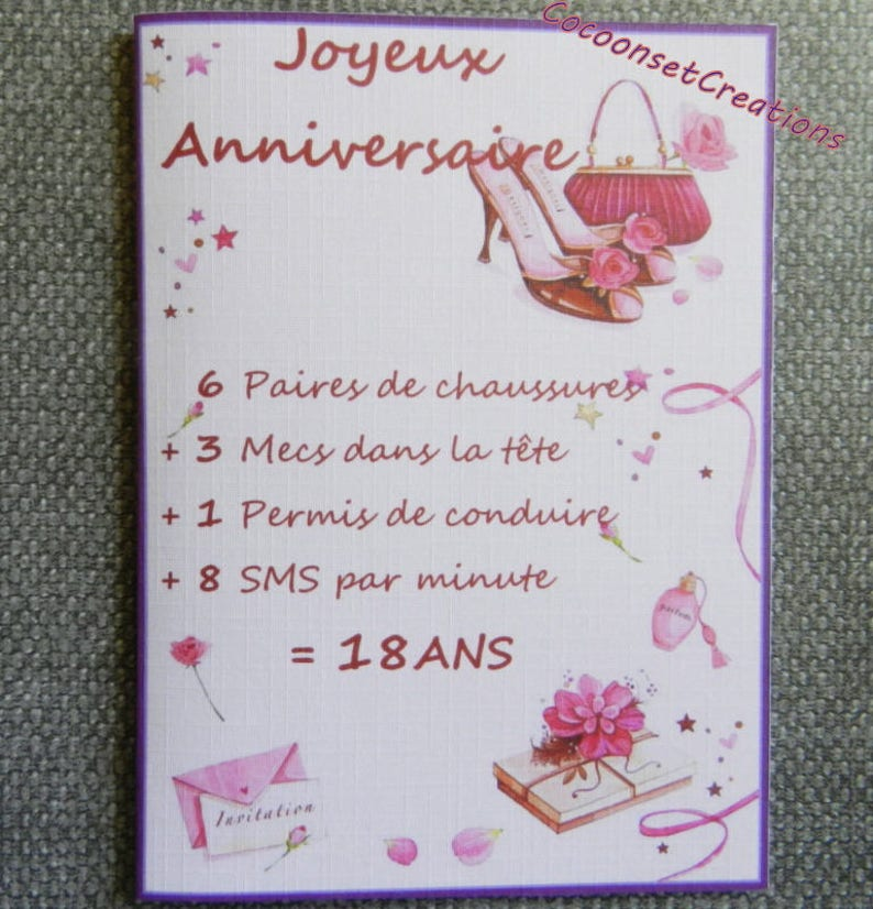 09 Greeting Card 18 Years Old Birthday Girly Pair Of