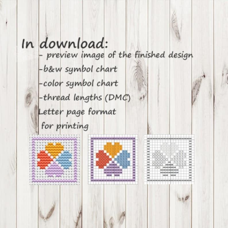 Geometric  cross stitch trex pattern Dinosaur Easy Beginners  cross stitch pdf pattern xstitch PDF chart Instant Download printable