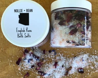 English Rose Bath Salts / Bath Salts / Bath Tea / Bath Soak / Spa Gift