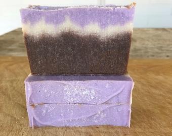Black Amber and Lavender Soap / Cold Process Soap / Handmade Soap / Natural Soap / Bar Soap / Vegan Soap