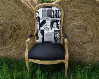 fauteuil voltaire rnov annes 30 dcoration intrieur maison ameublement dco chambre dhtes contemporain glamour fashion - Voltaire Relooke