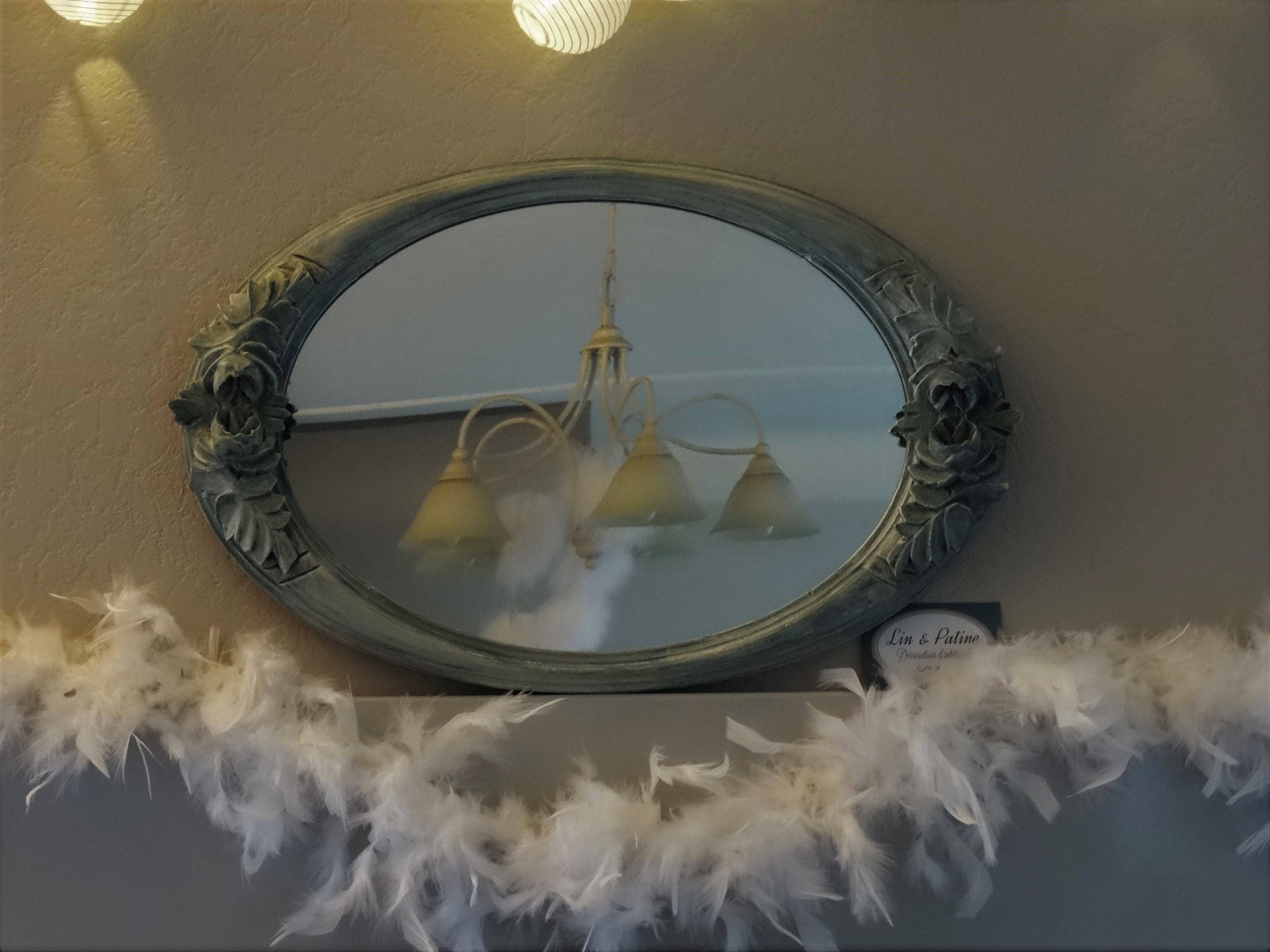 Décoratrice D Intérieur Rodez mirror inside art deco, decoration, home furnishing, reooke mirror and  weathered, oval carved frame with roses, shabby chic vintage decor