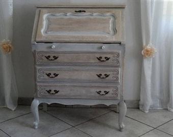 Secretary style Louis XV style Dresser makeover
