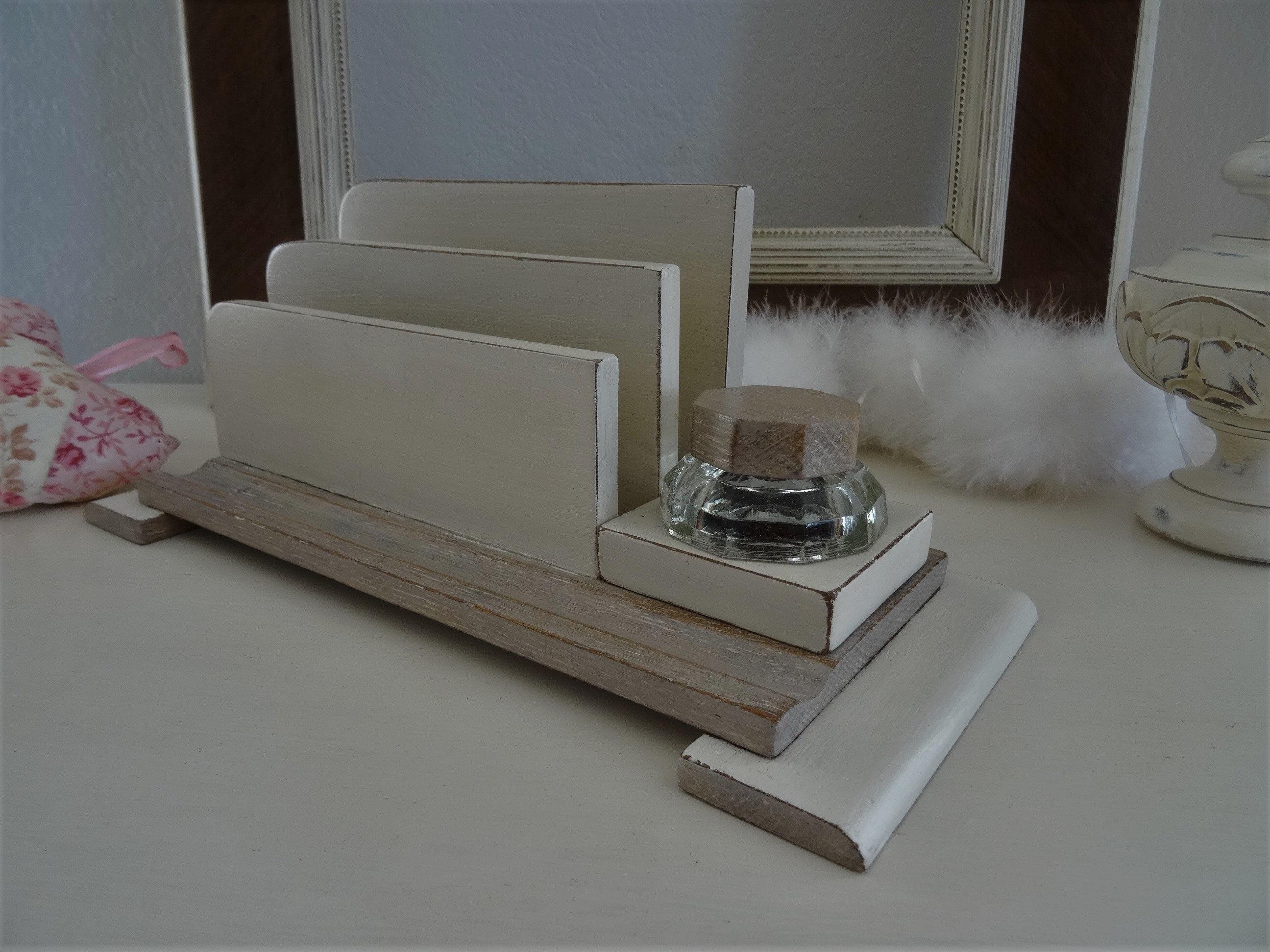 Décoratrice D Intérieur Rodez letter holder, mail range, office organizer, interior decoration, gift  idea, decorative object, glass inkwell, deco shabby, art deco design