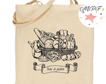 """Tote bag """"bag with bread"""""""