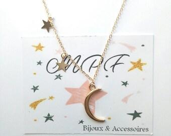Moon necklace Crescent gift MOM, Dad, friends, friends, boyfriend, girlfriend, Grandma, teacher
