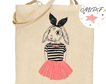 Tote bag Bunny dancer
