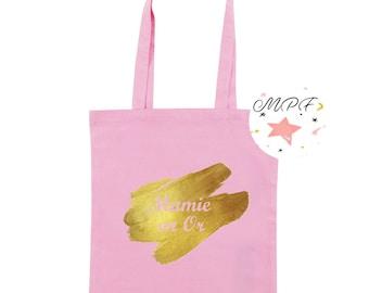 Teacher Tote bag MOM, teacher gift, Grandma, baby gold