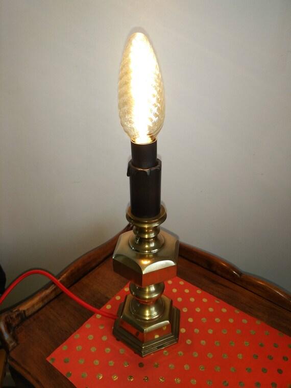 Lampe Ancienne En Laiton Etsy