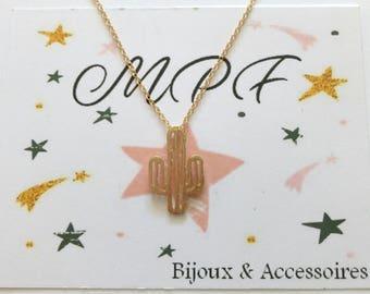 Necklace Golden idea Cactus gift MOM, friends, friends, girlfriend, Grandma, teacher