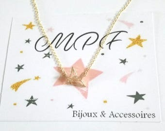Origami necklace bird gift MOM, Dad, friends, friends, boyfriend, girlfriend, Grandma, teacher