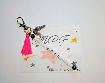 /Bijpoux bag personalized gift MOM, Dad, friends, friends, boyfriend, girlfriend, Grandma, teacher keychain