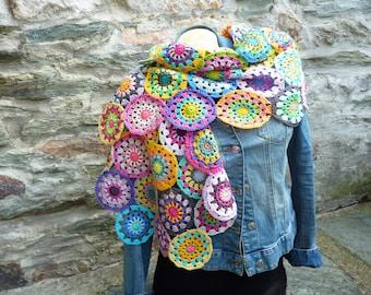 Woman stole crochet, Mercerized cotton stole, handmade stole, shoulders, crochet wrap, crochet scarf, scarf
