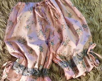 pretty floral pink cotton ladies vintage bloomers
