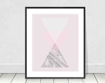 Marble Wall Art, Triangle Print, Pastel, Printable Art, Geometric Wall Art, Marble Print, Scandinavian,Nordic,Abstract Art,Modern Minimalist