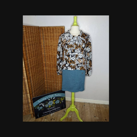 M UK 8-10 36-38 Sheer 70s Vintage Bow Blouse Size S US 4-6