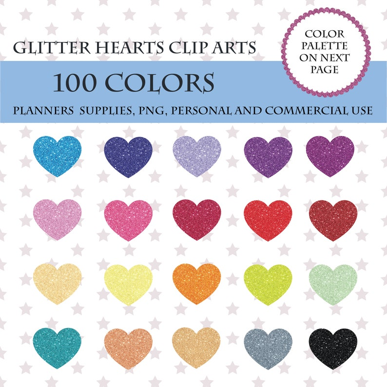 Hearts Outline Free Clip Gold Glitter - Berkshireregion