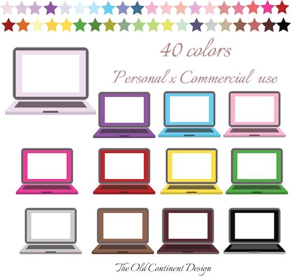 Laptop Clip art, Laptop Clip, Computer clipart, Mac book computer, PC clip  art, Clipart, Planner Stickers, Commercial Use, CL-083
