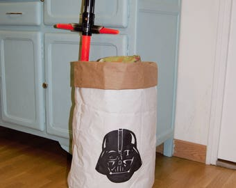 recycled kraft paper bag. Kids collection