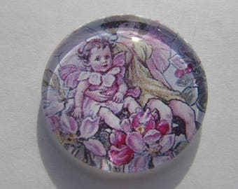 Cabochon 20 mm fairy flowers for your jewelry making