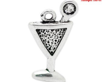 Set of X 10 charms/pendants charms silver cups to decorate your jewelry accessories