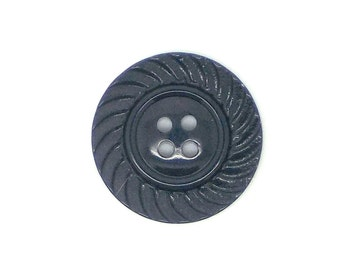Vintage, round, black, fancy, sewing button