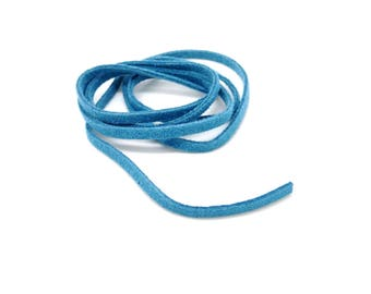 Suede, lace, blue, 3 mm