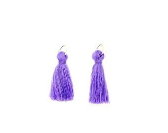 Tassel, charm, cotton, purple, ring