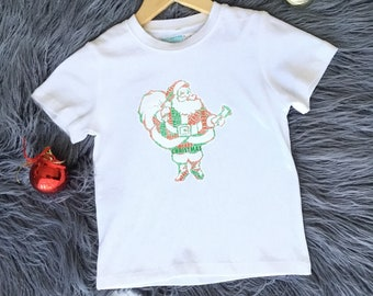 ae54c1c545e48d Personalised Santa, Christmas Tree, Reindeer, Christmas Bells, Baby and  Kids T-shirt One-piece Romper Bodysuit. Gift, First Christmas