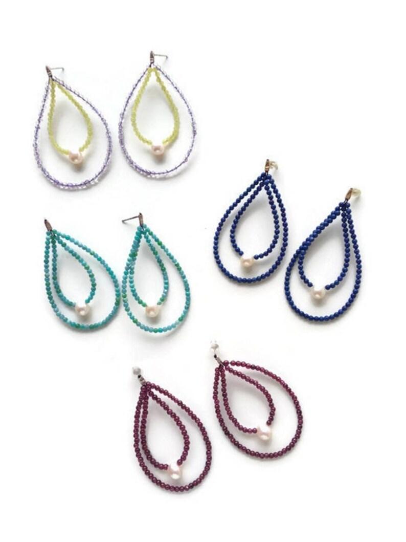 Rhodolite Garnet Jewelry For Her Garnet Stone Earrings