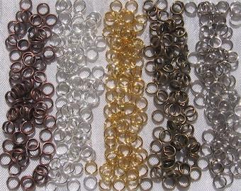LOT de 100 ANNEAUX connecteurs DOUBLES 7mm x 1,2mm ARGENTE création bijoux A158