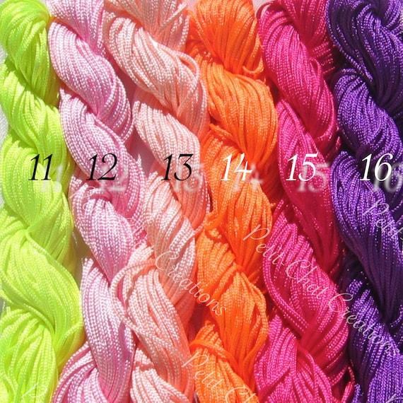 24m Nylon thread 1mm pink