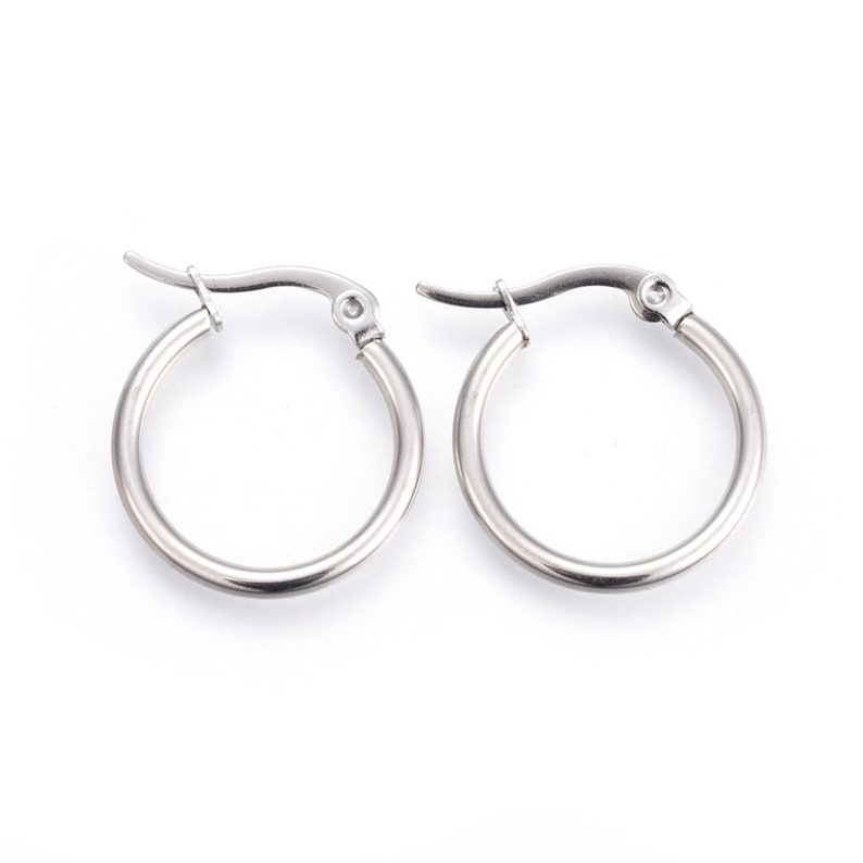 20mm CREOLES PAIRE 20mm buckles silver stainless steel anti-allergic silver creoles stainless steel stainless creoles IN53