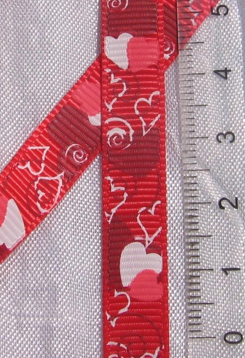 1M Ribbon Grosgrain Ribbon liberty Ribbon black ribbon Halloween pumpkin Valentine/'s day X14 heart 9mm Ribbon Red Ribbon